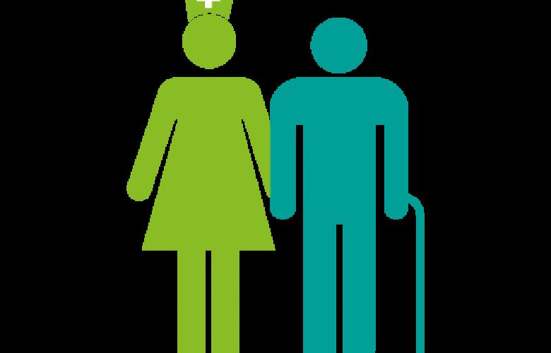 Nurse with older person