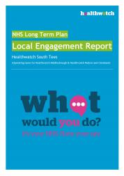 NHS Long Term Plan Local Report front cover