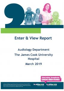 Audiology Report front cover
