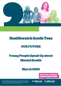 Healthwatch Young people's mental health Report front cover