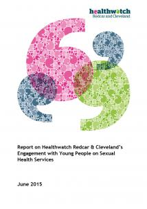 Young People on Sexual Health Services report front cover