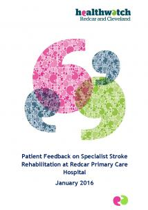 Stroke Rehabilitation Report front cover